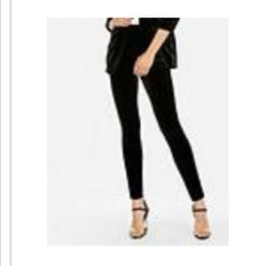 Express High waisted velvet leggings